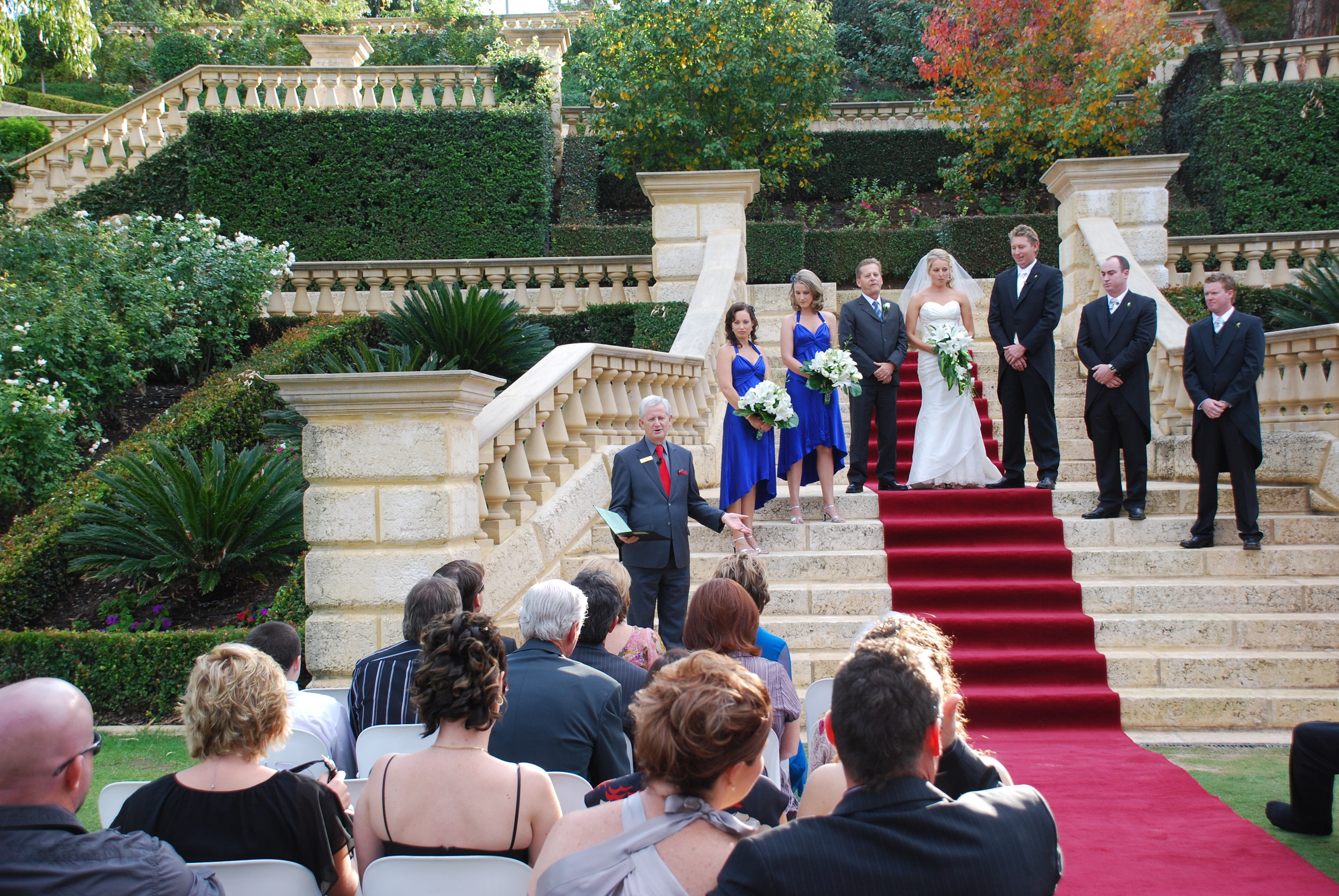 On the steps at Caversham House