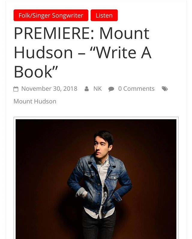 You guyssss! New song Write a Book premiere on #earbuddy! Link in bio.