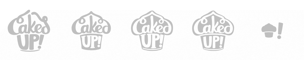 """Logo Development Process – """"Caked Up! Durant"""" – http://pacificletters.com/news/branding-design-caked-up-durant"""