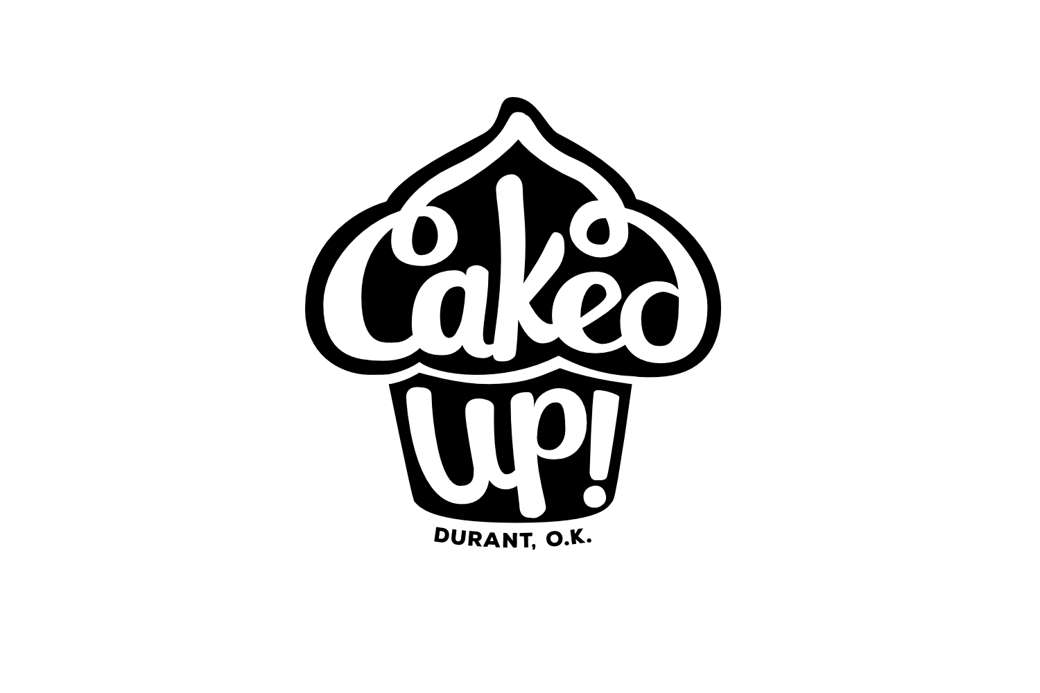 """Logo: """"Caked Up! Durant"""" – http://pacificletters.com/news/branding-design-caked-up-durant"""