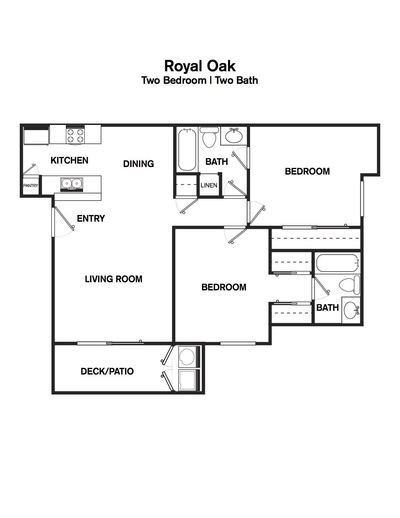 royal oak - two bedroom two bath