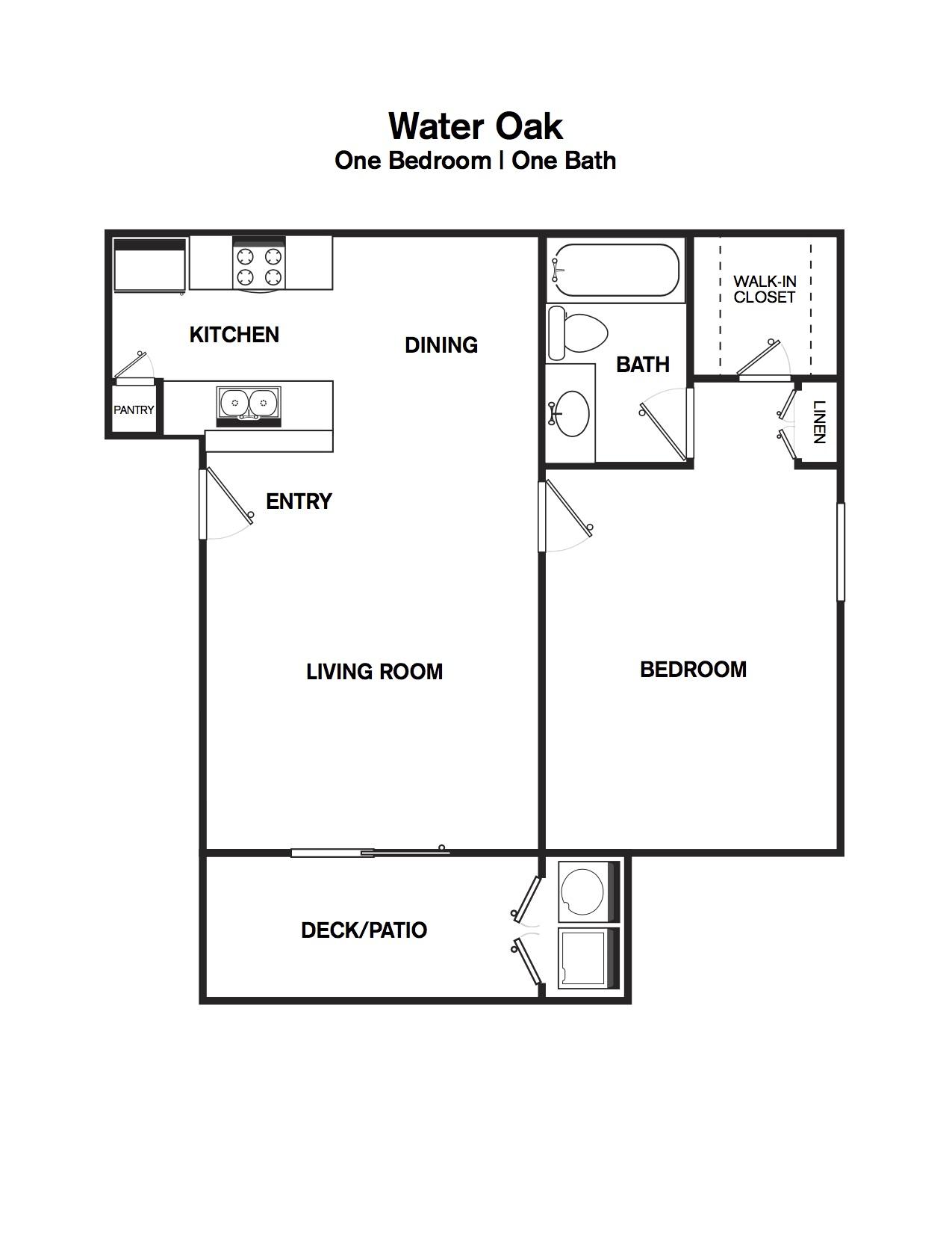 Water Oak Oak - one bedroom one bath