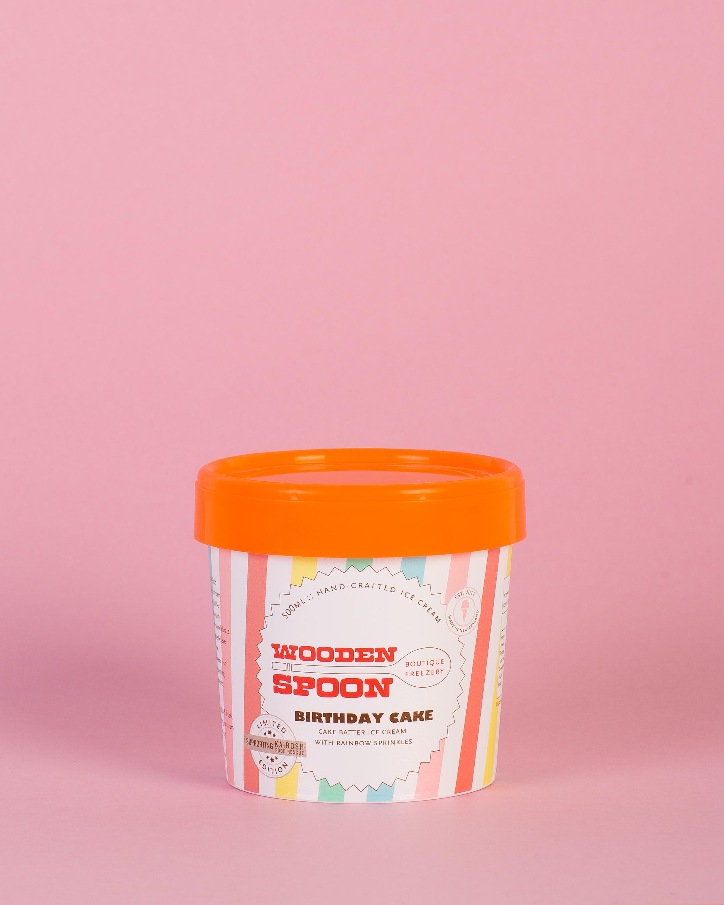 BIRTHDAY CAKE : Cake batter ice cream with rainbow sprinkles (egg free)