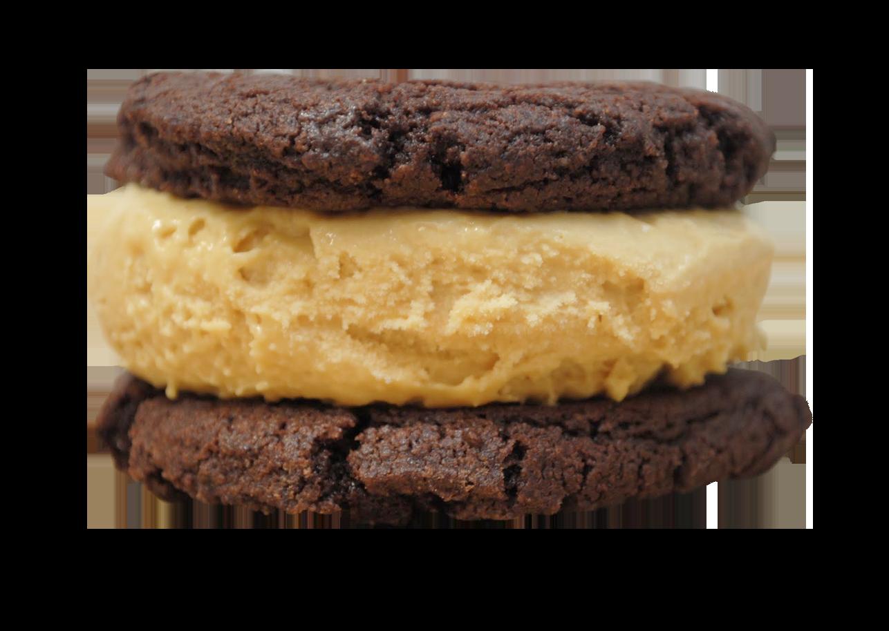 SHIVER ME TIMBERS : Caramel & Sea Salt ice cream between two chocolate cookies