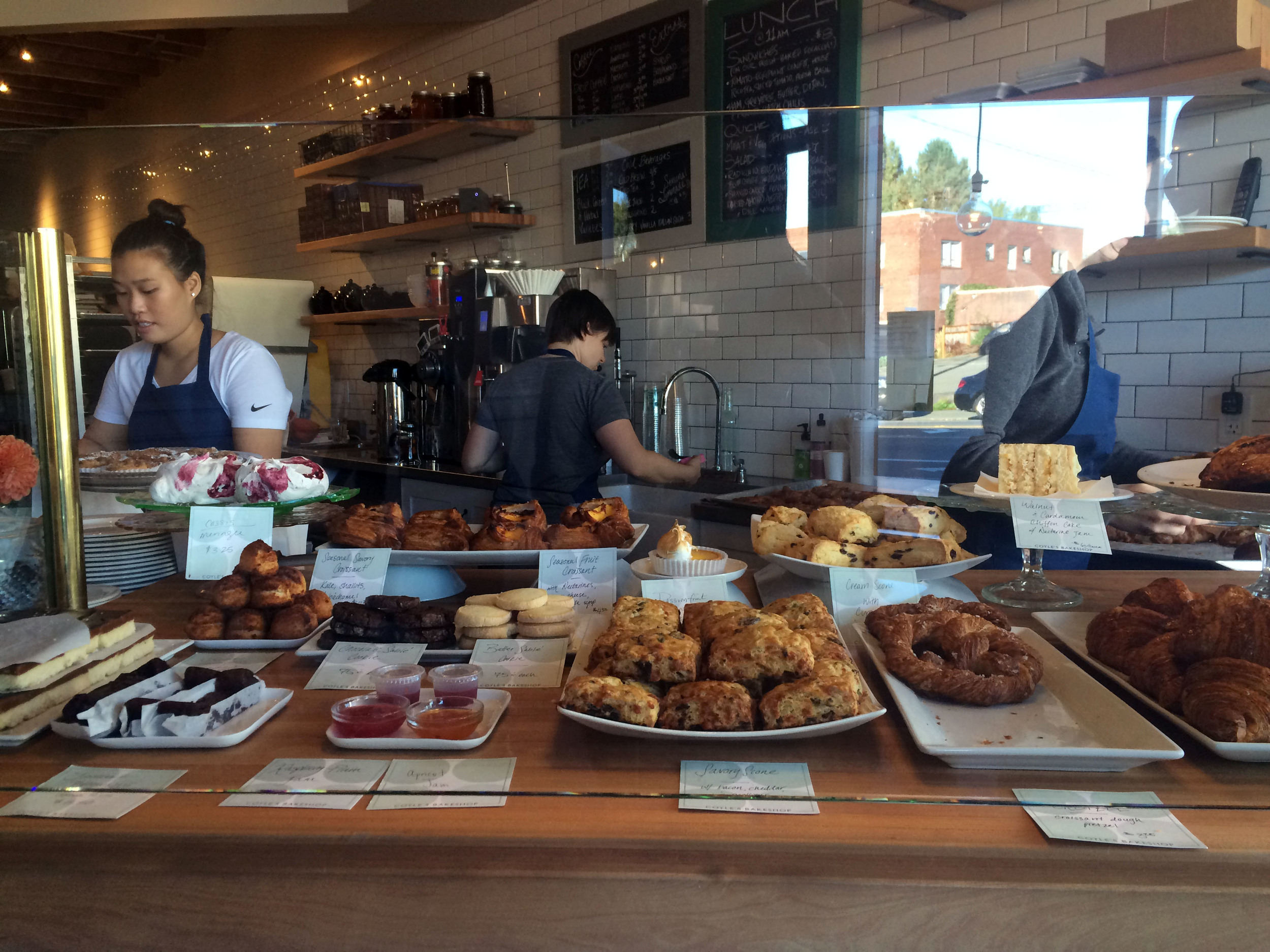 The display of baked goods