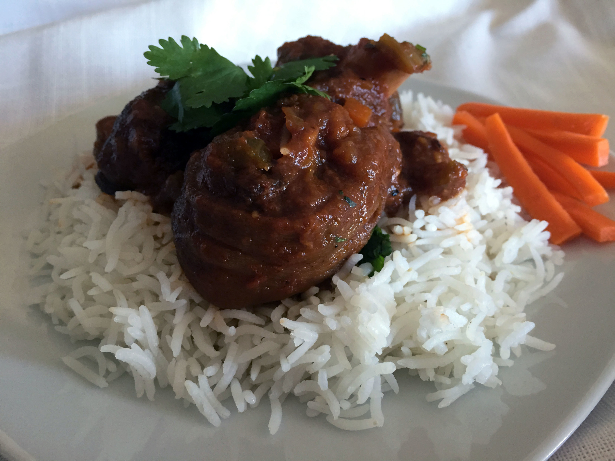 Braised goat and rice