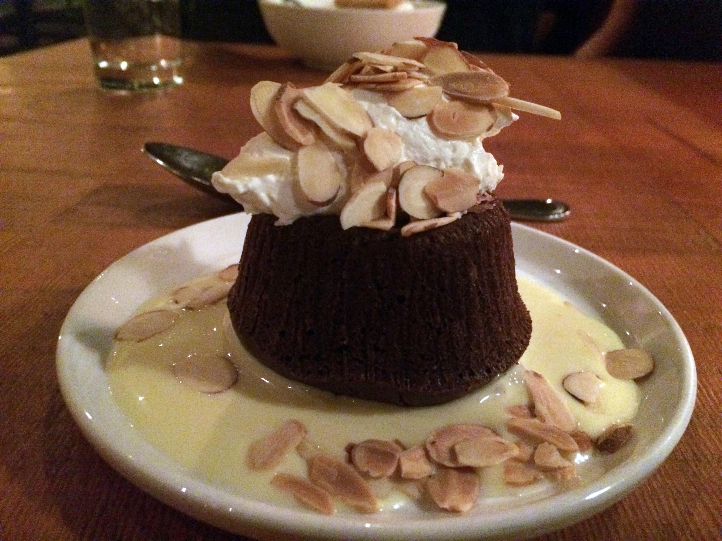 Dark Chocolate Ganache Cake with Almond Cream