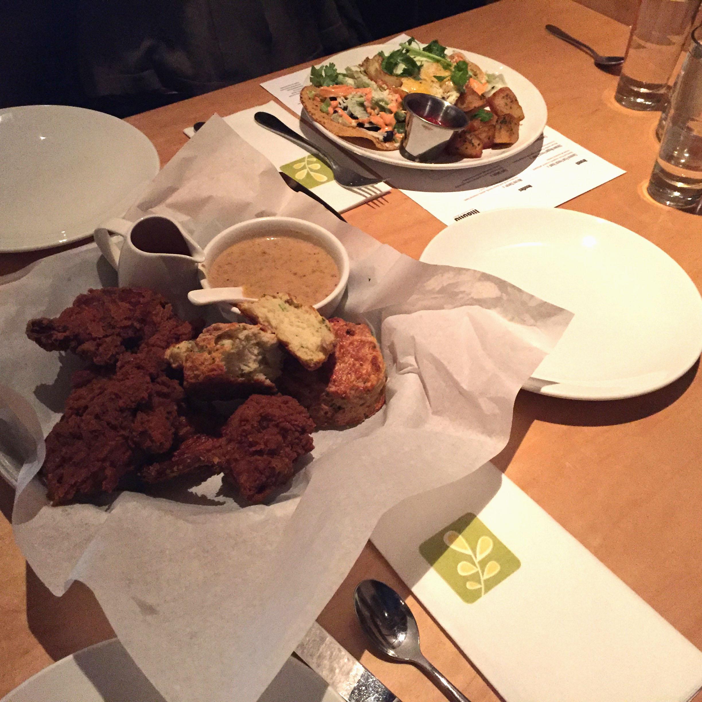 Fried Chicken and Tostadas