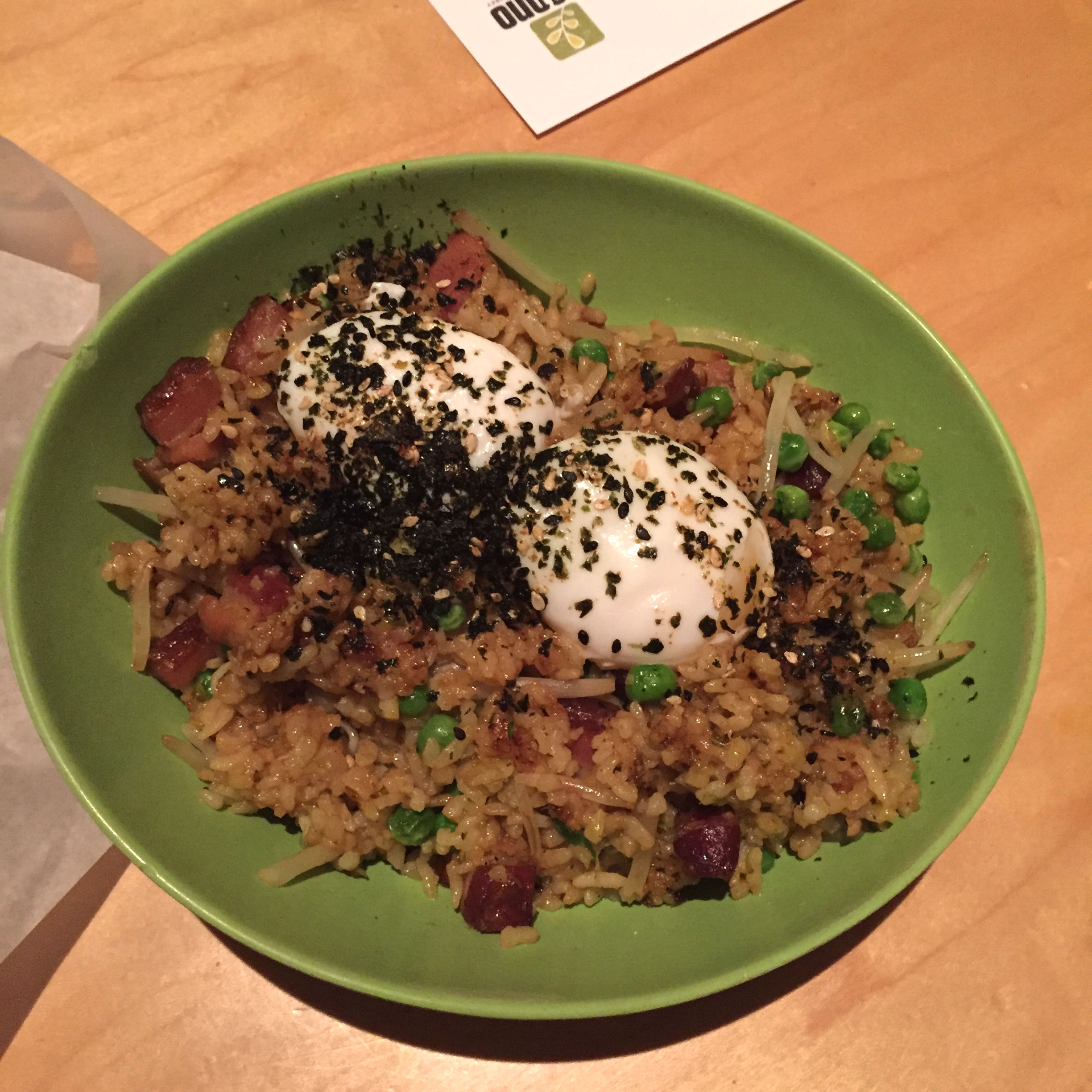 Curry-Bacon Fried Rice & Eggs