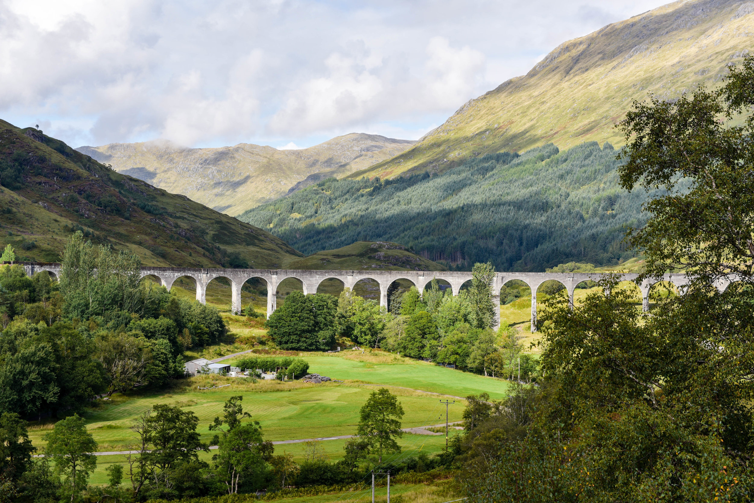 Glenfinnan Viaduct (used in Harry Potter for Hogwart's Express)