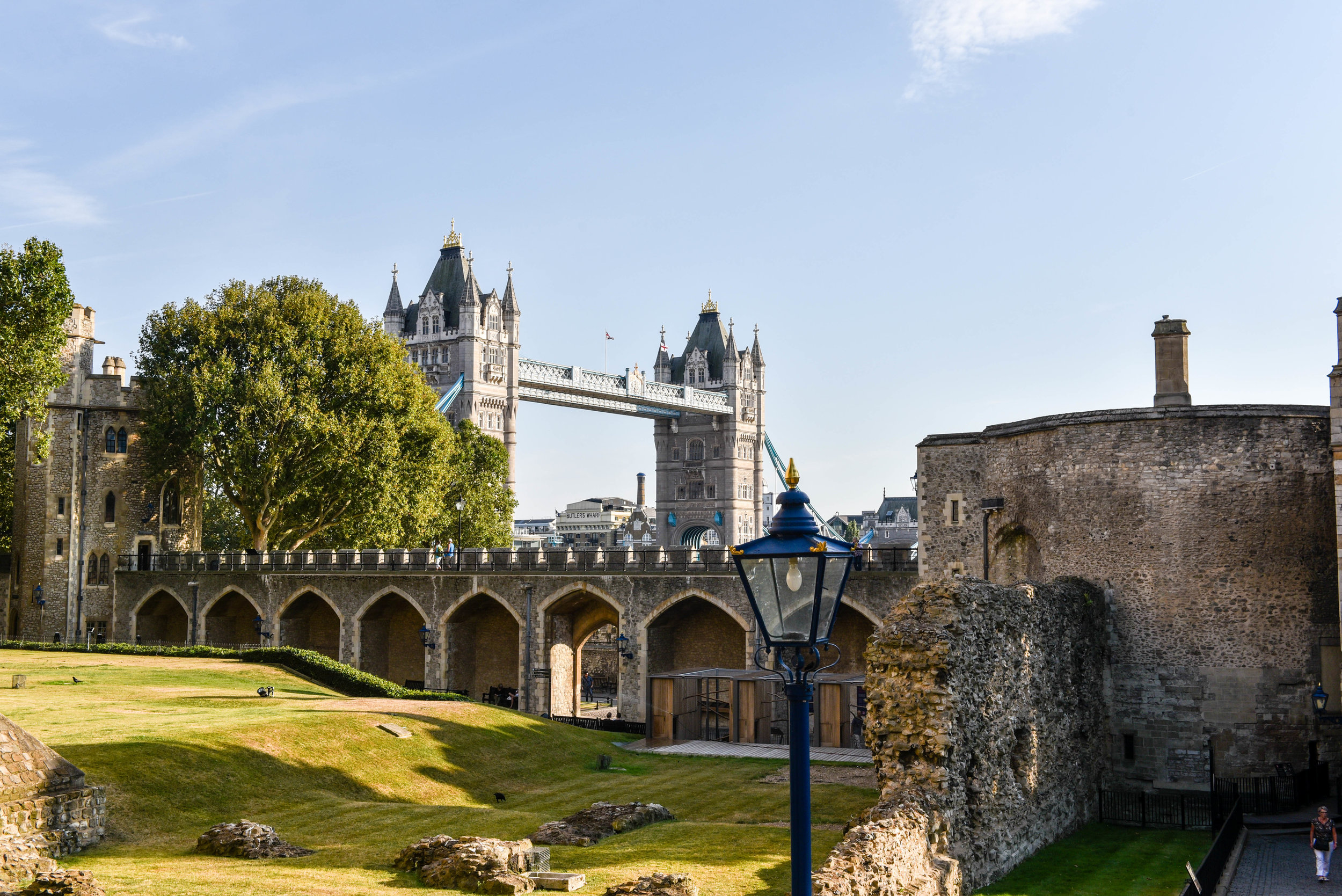 Inside the Tower of London Fortress