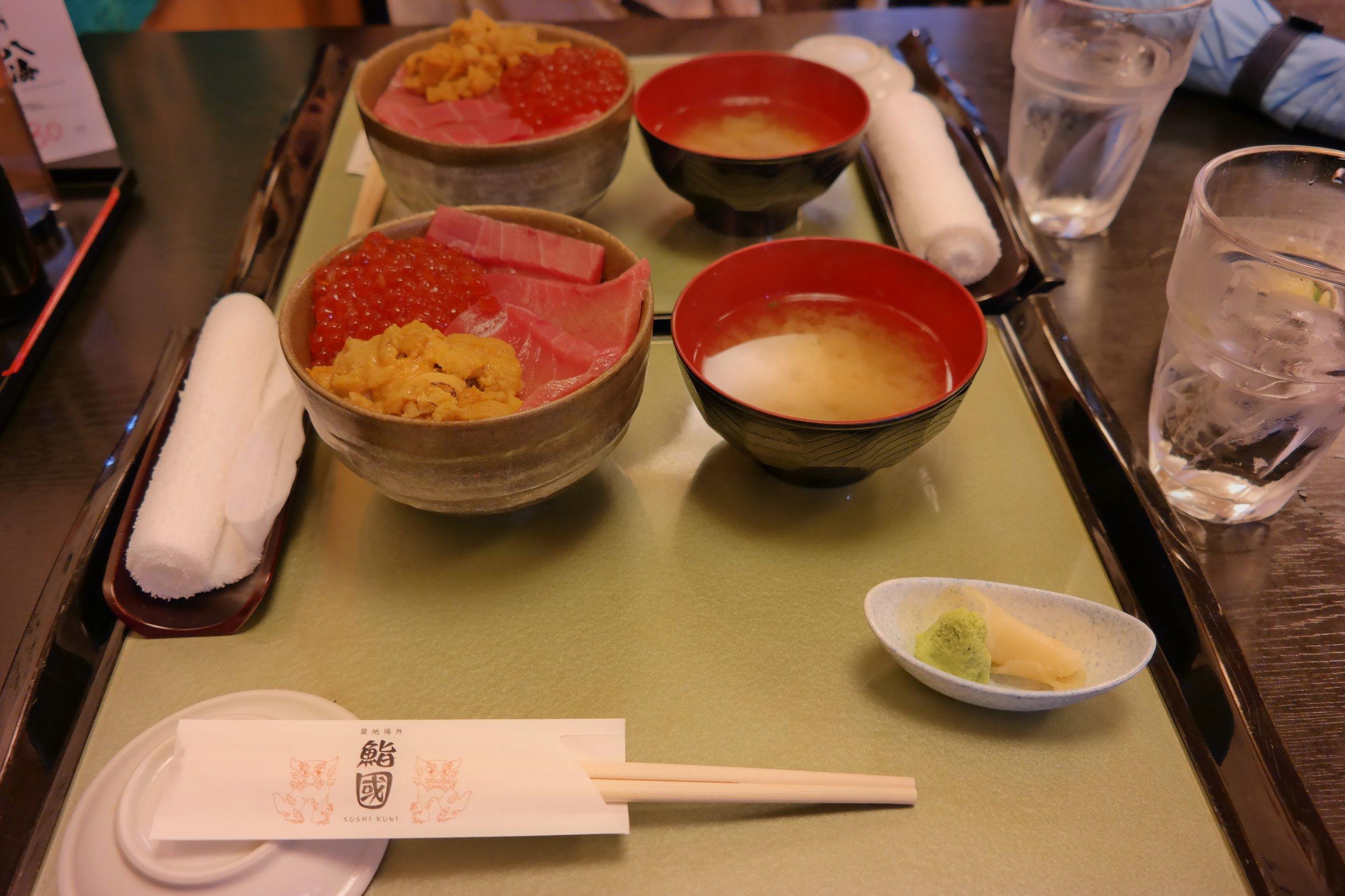 Uni bowl from Sushi Kuni