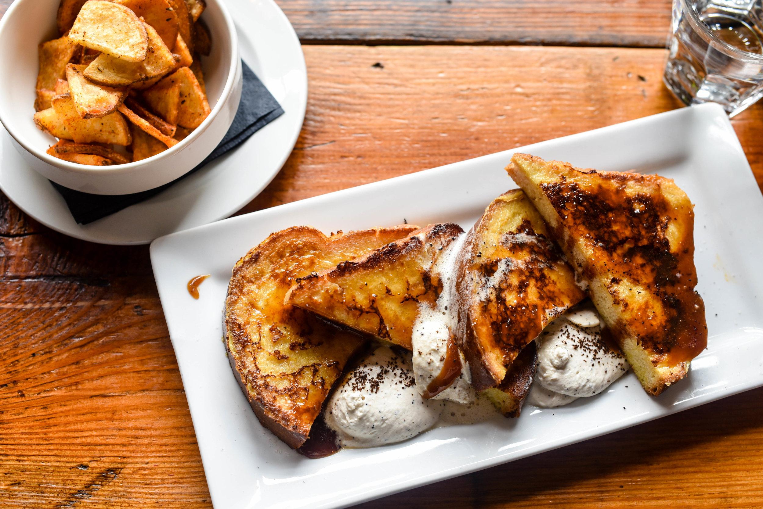 salted caramel brioche french toast