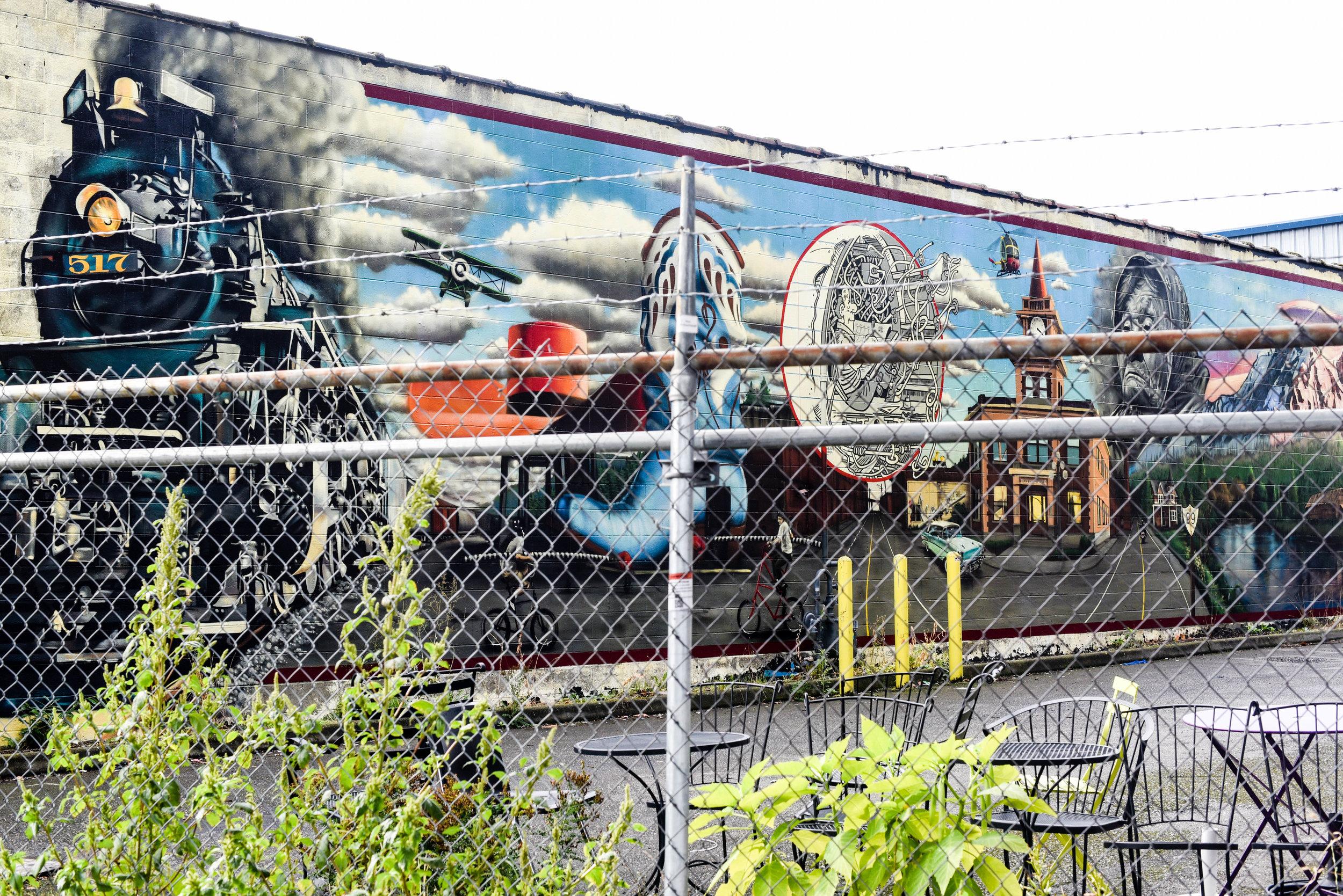 cool mural - brass tacks