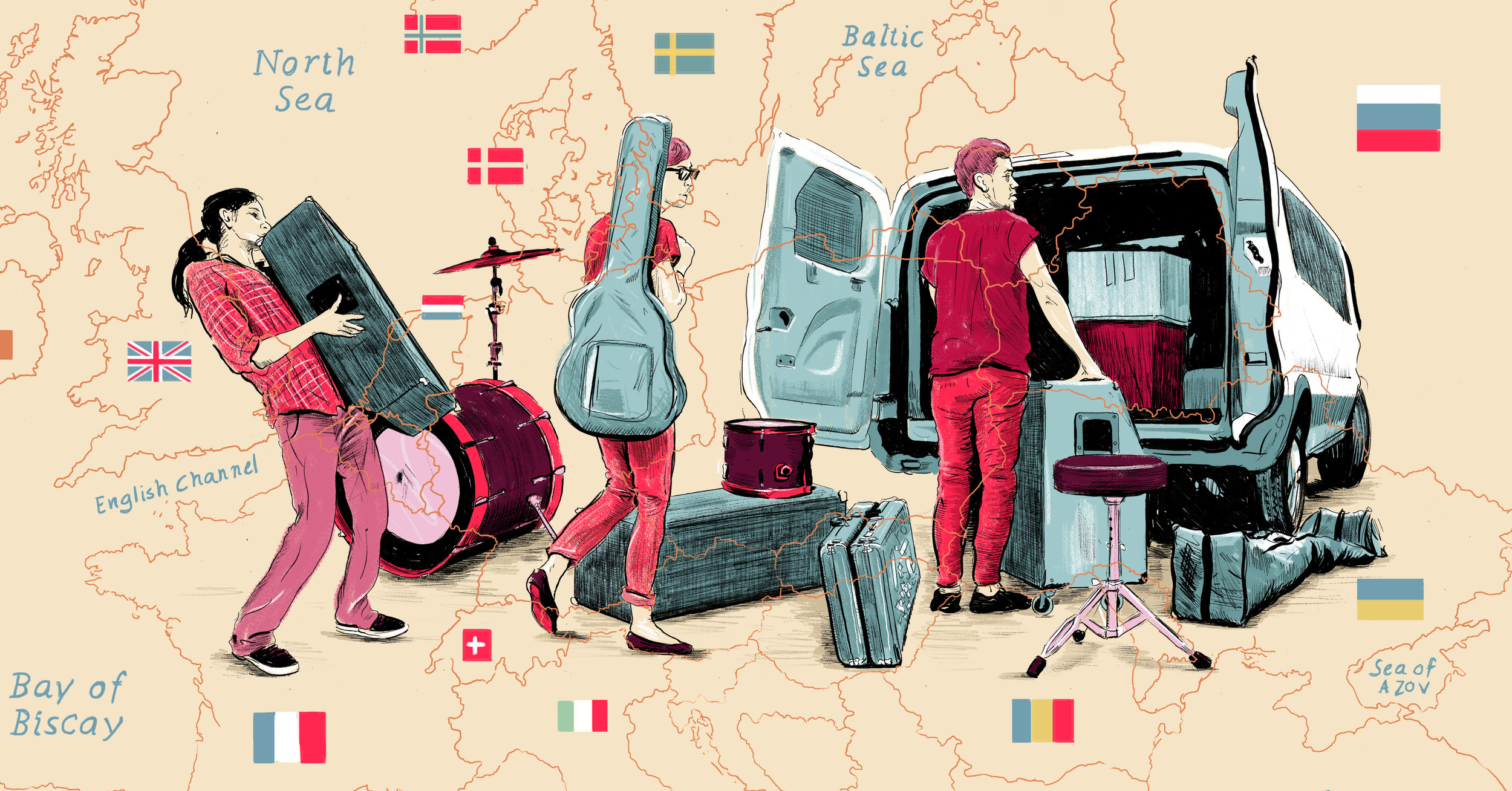 How to Book a European Tour as a Broke American with No Money or Industry Contacts by Sophie Atkinson