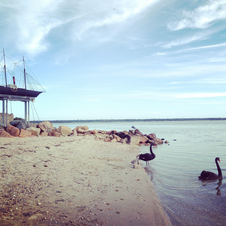 Metung beach .