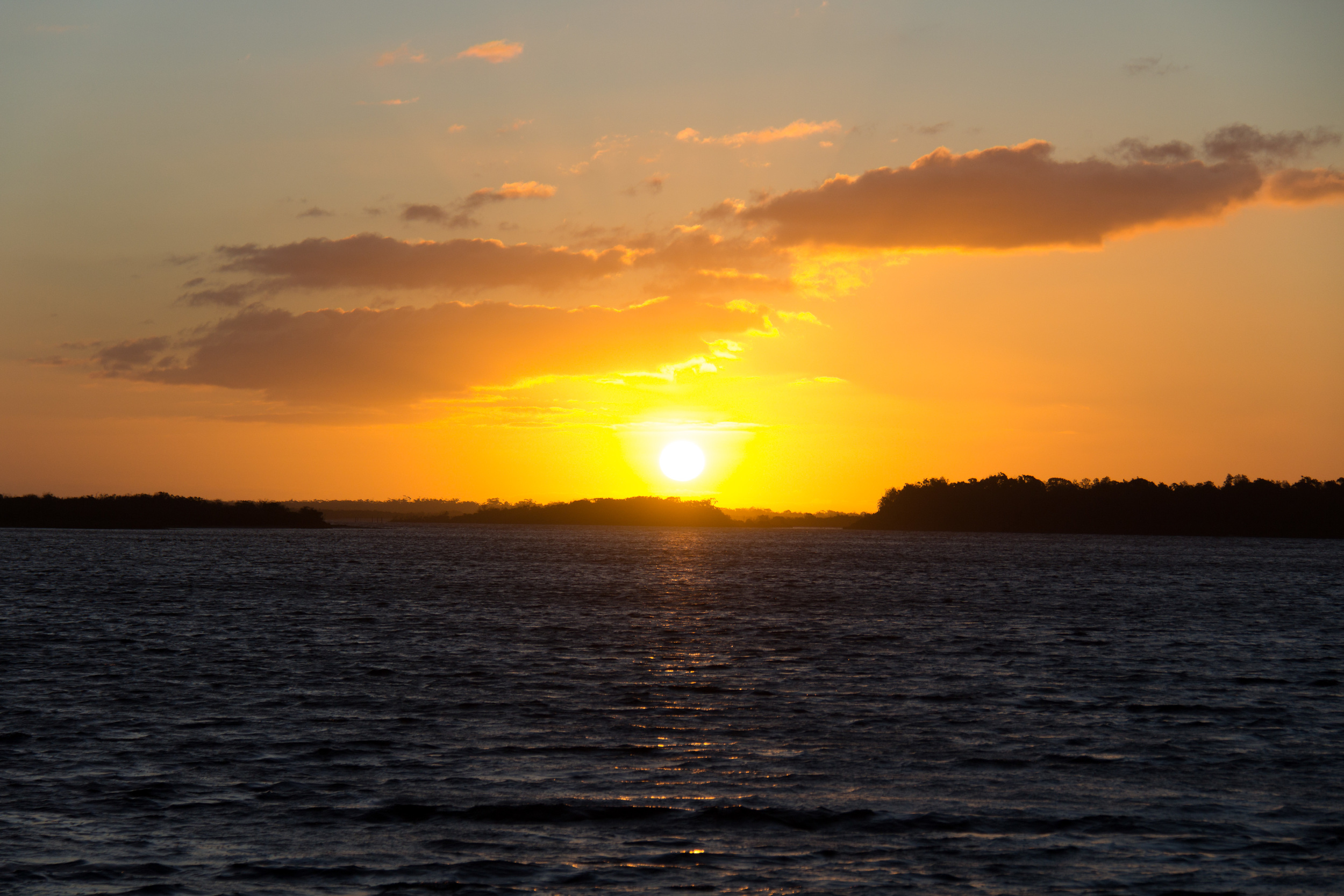 One of the many epic sunsets in the Gippsland Lakes.