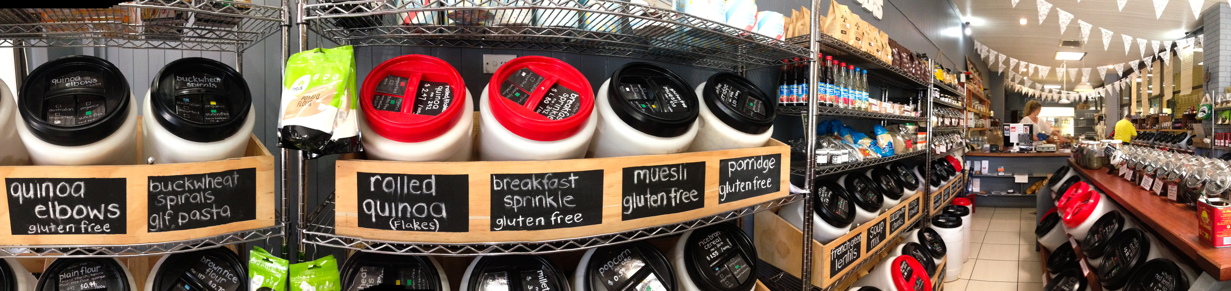 The Rustic pantry was a health nuts heaven, with bulk buy, self scoop of all sorts of goodies. Be sure to check it out if you are visiting Moruya.