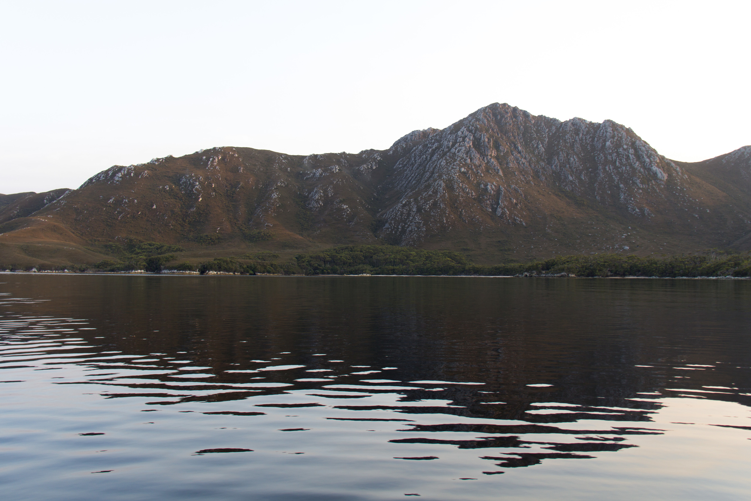 Mount Misery from Sarah Island.