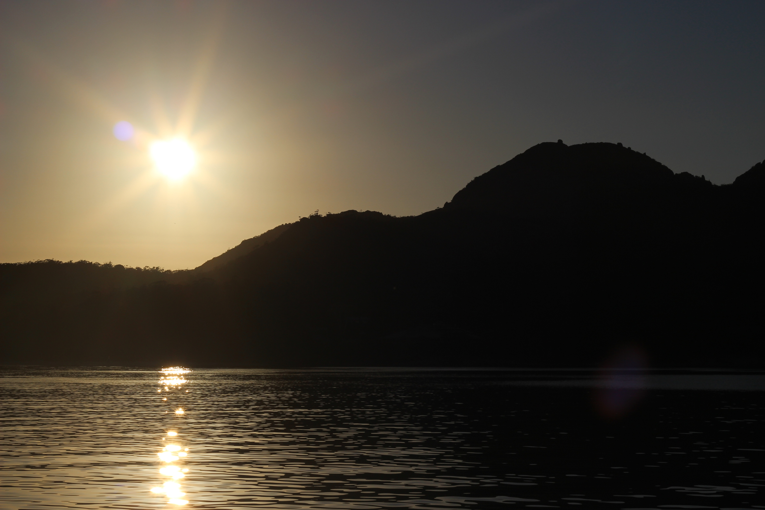 Sunrise over the Hazards