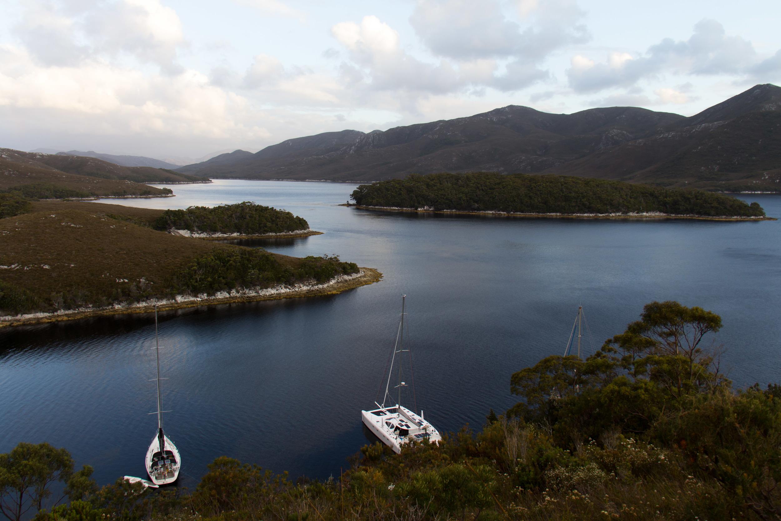 Meeting Fellow Cruisers in the Bathurst Channel, Tasmania.