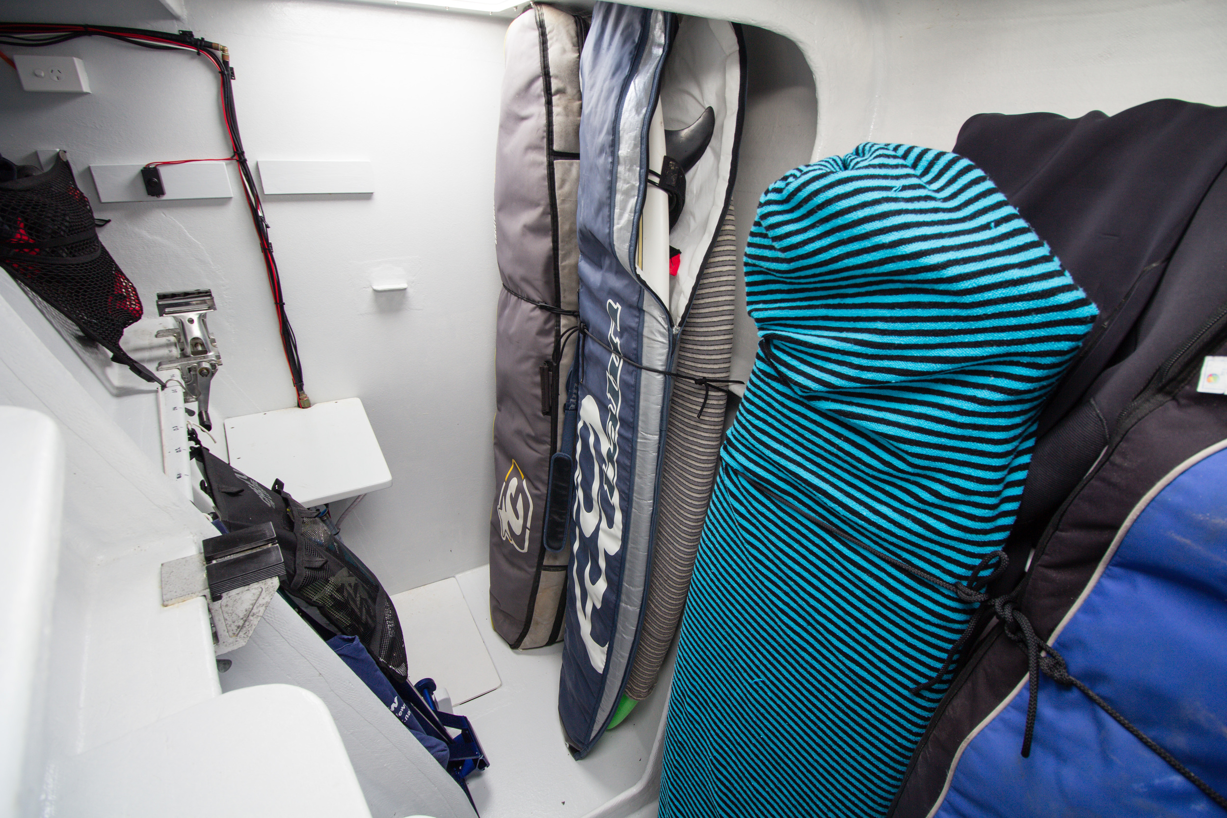 The tidiest the surfboard locker has ever been.