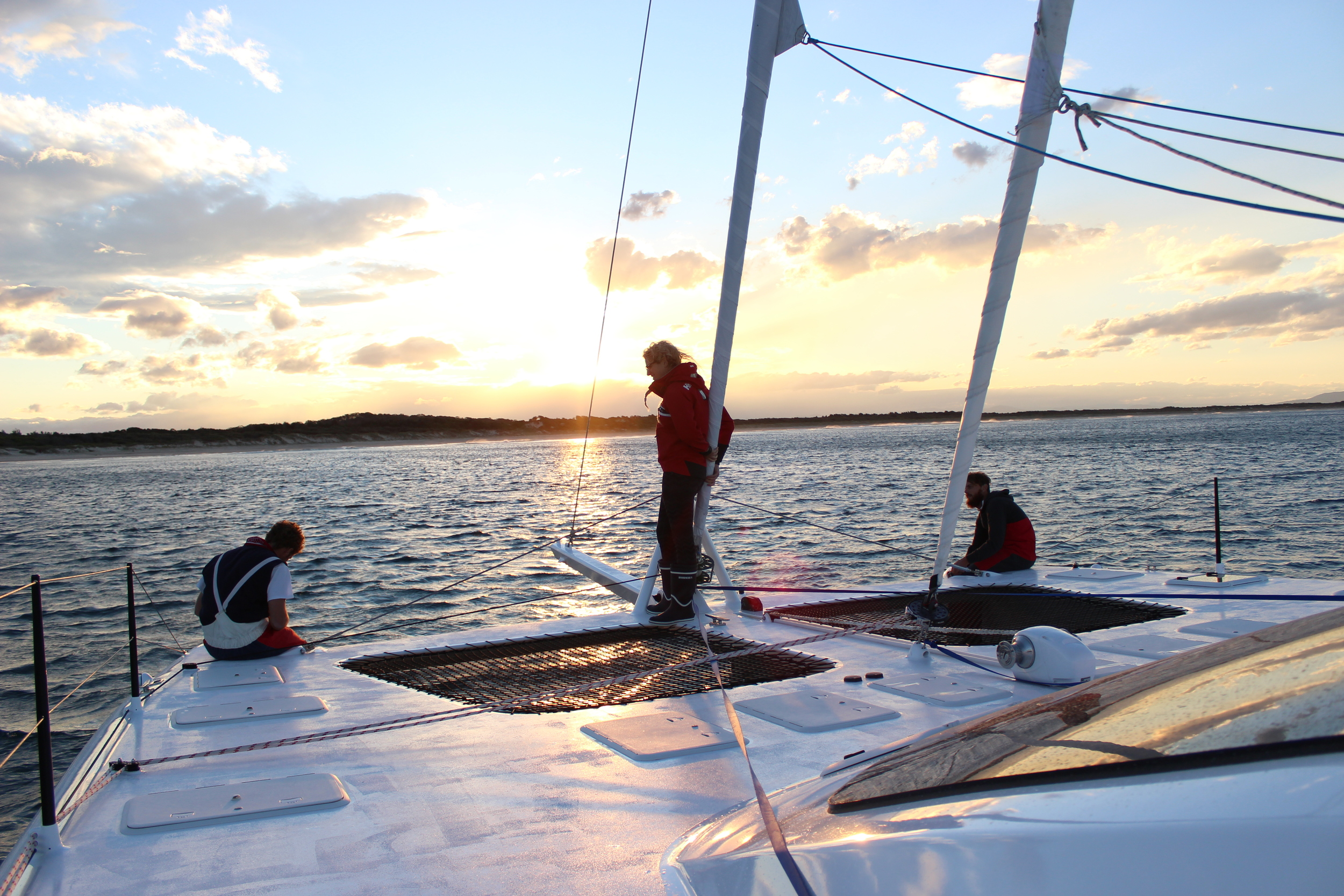 Sunset anchoring at Hat Head Bay NSW