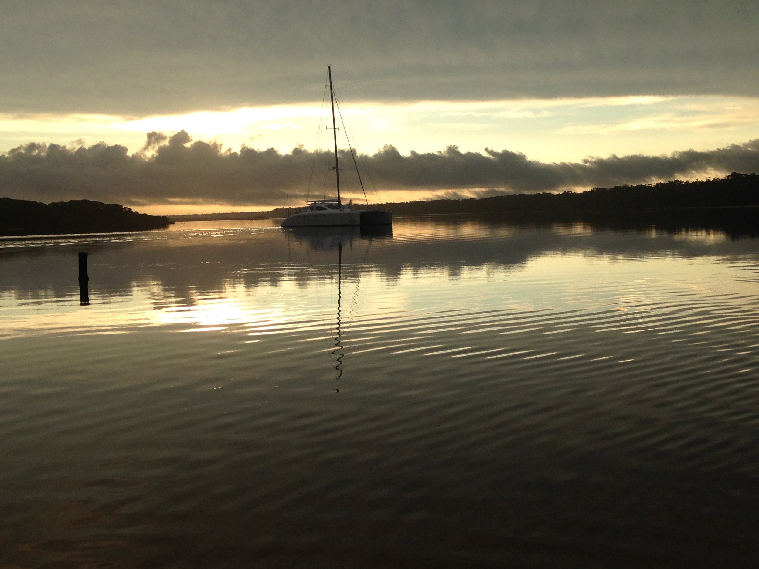 The sunsets in the Gippsland Lakes were always bound to impress.