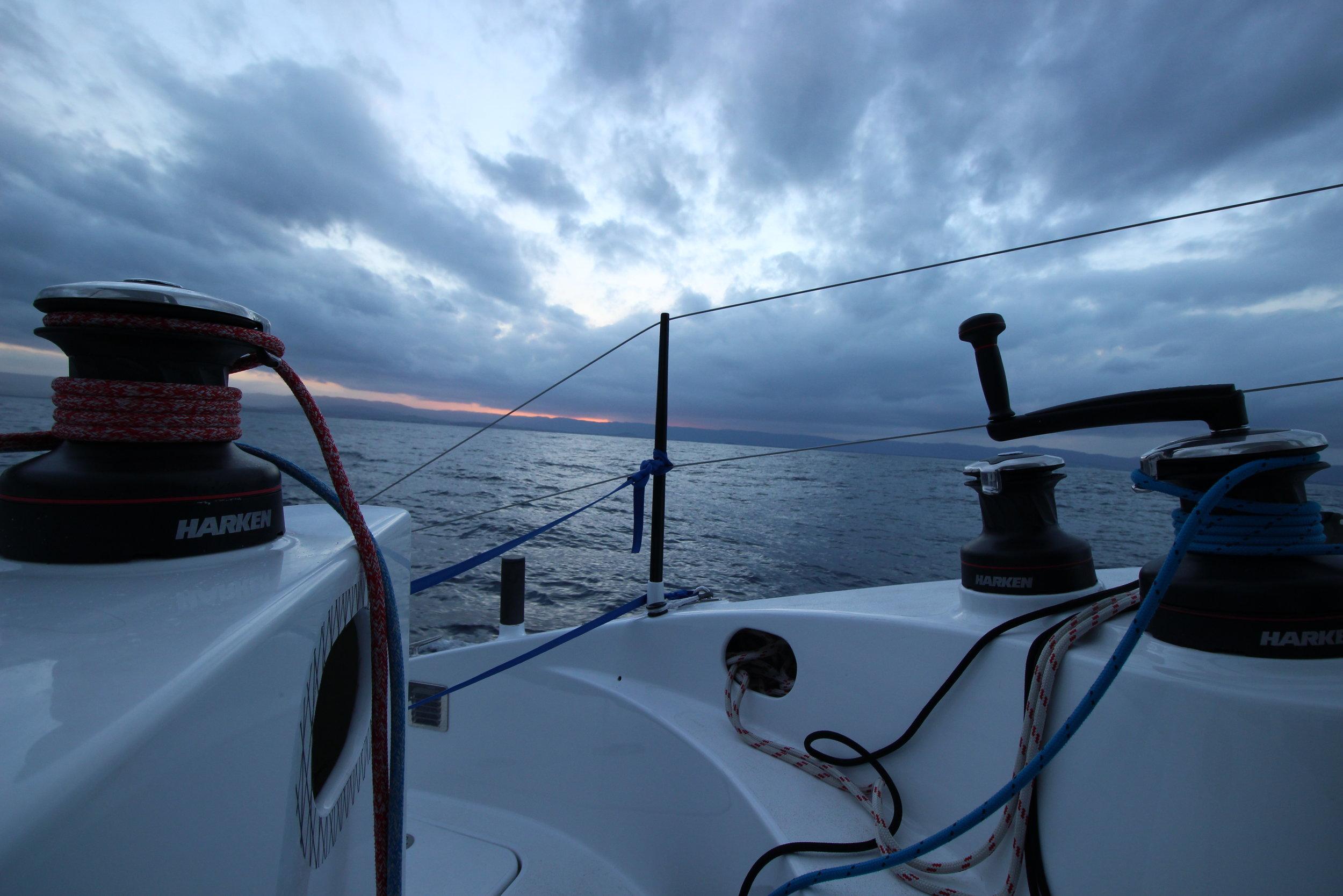 flat waters leaving Tasmania