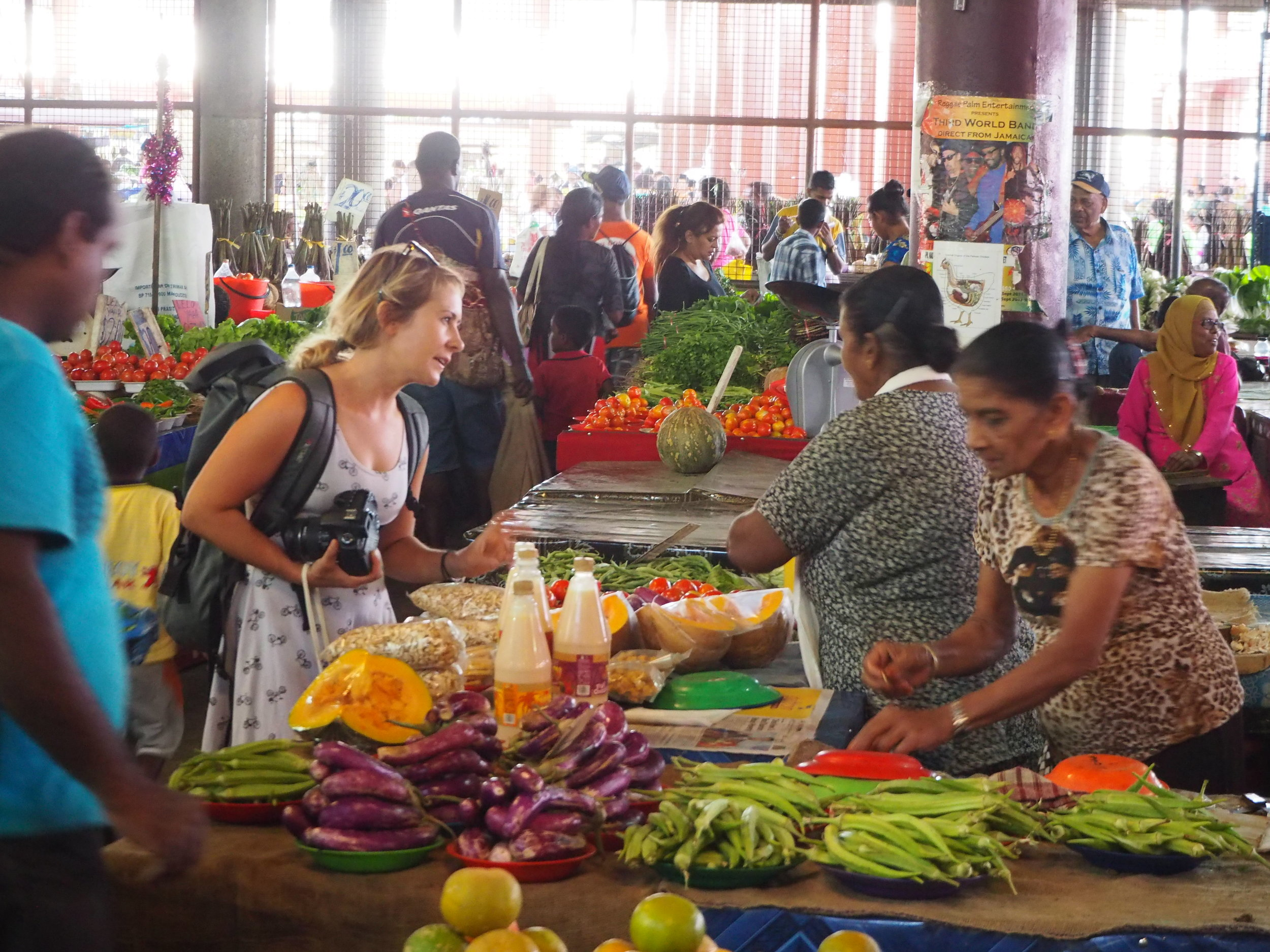 Still my favourite markets I have come across yes, the fresh produce markets in Fiji were amazing full of colourful vegetables and fruits grown and picked by the locals.