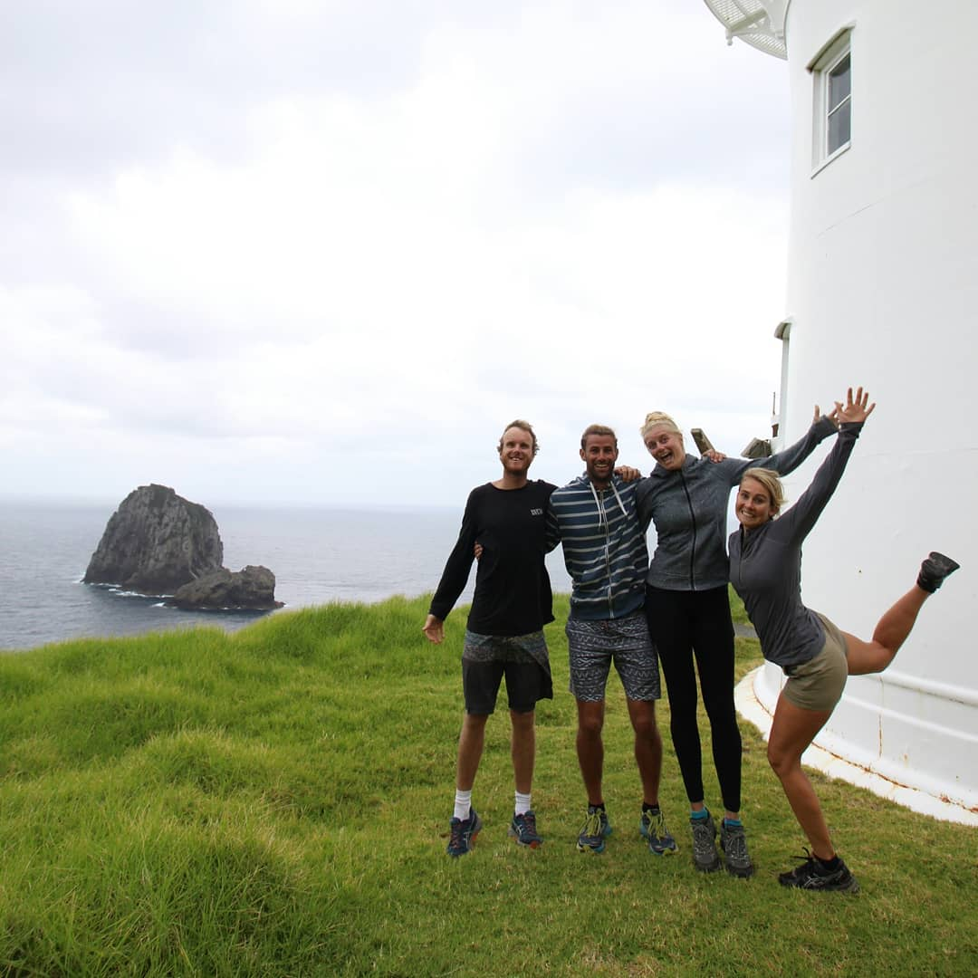 Mick, Sam, Estelle and I feeling high on life after hiking to cape Brett in the Bay of islands NZ. Nothing like fresh air, exercise and friends to put a smile on your dial.