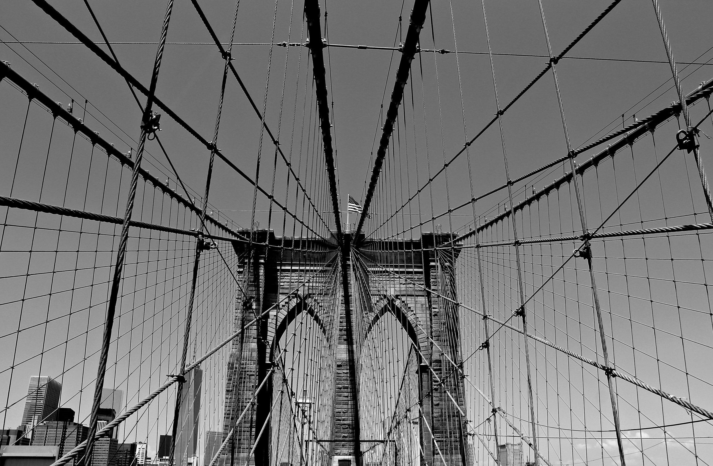 Brooklyn Bridge, NY . July 2014