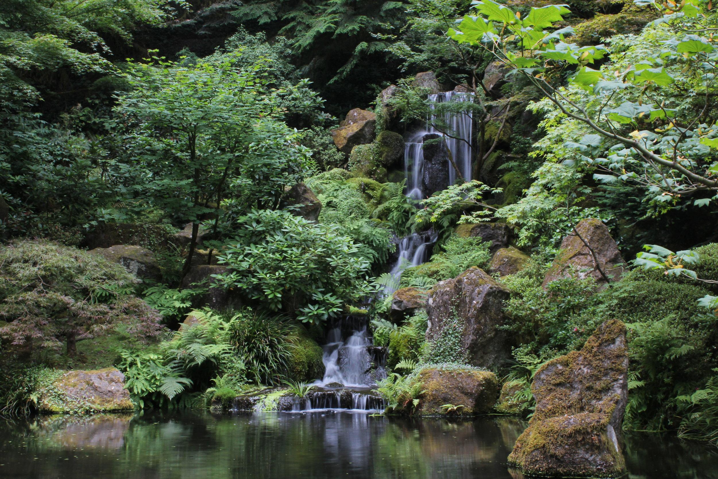 Portland Japanese Garden, OR . July 2016