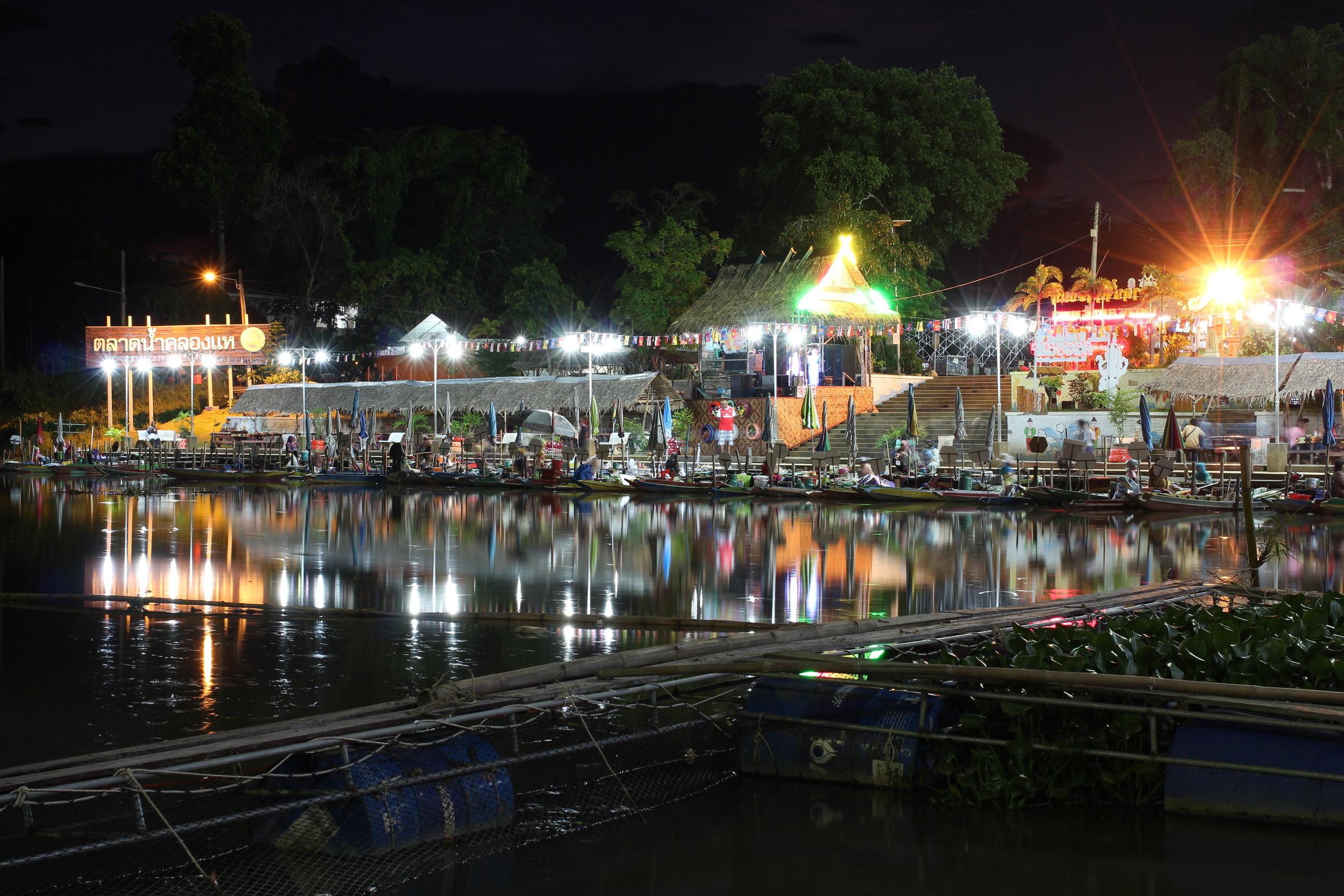 Khlong Hae Floating Market, Thailand . June 2017