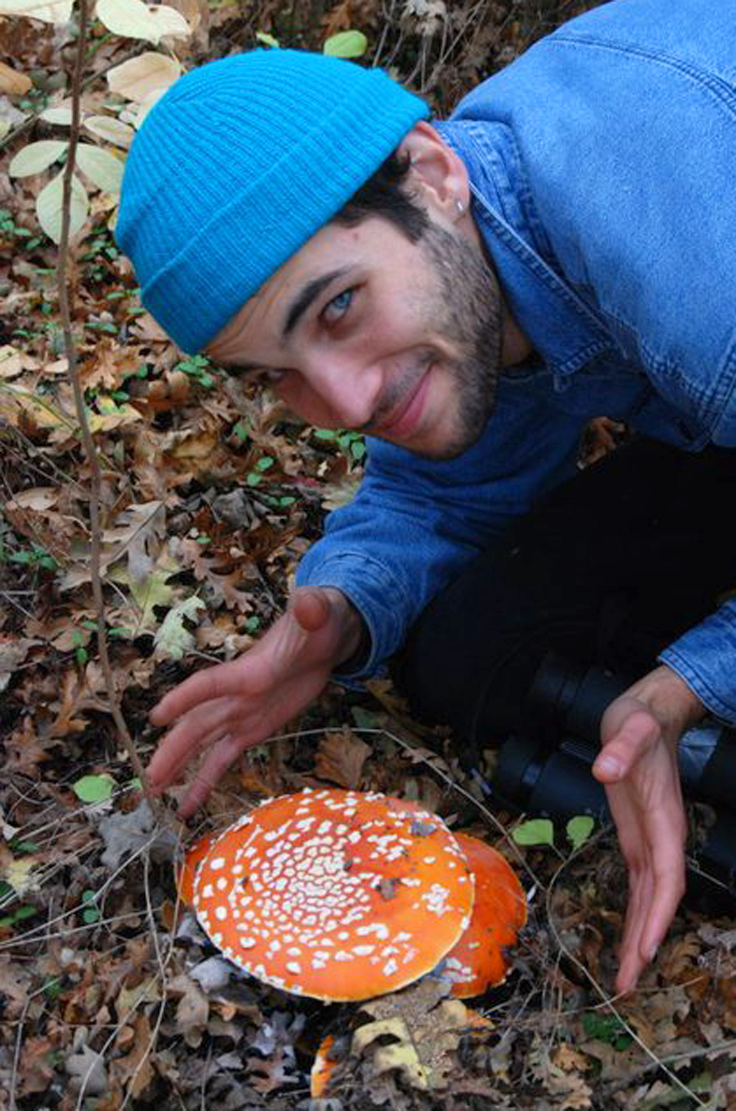 Christian Schwarz with  Amanita muscaria