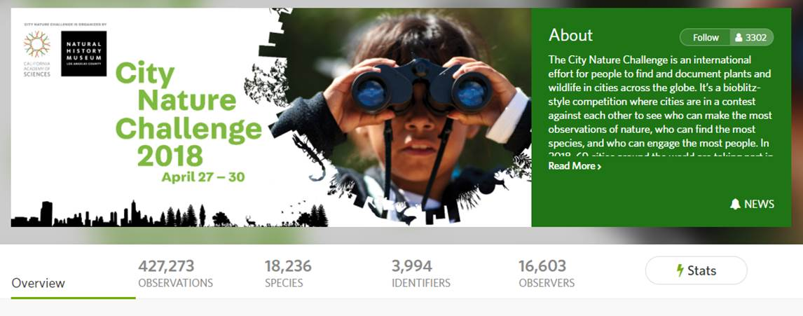 https://www.inaturalist.org/projects/city-nature-challenge-2018