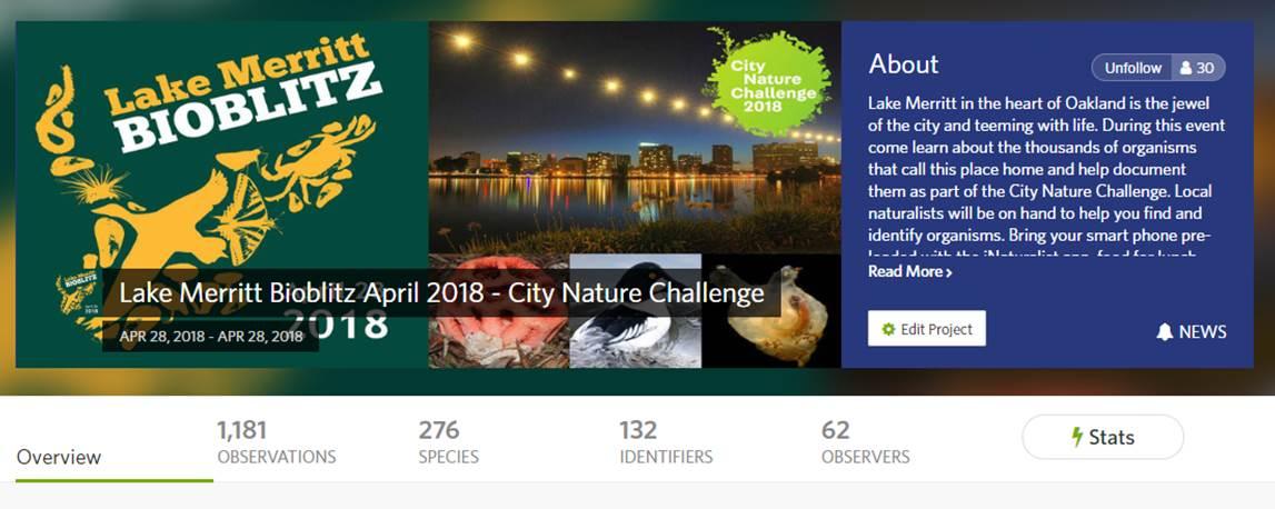 https://www.inaturalist.org/projects/lake-merritt-bioblitz-april-2018-city-nature-challenge