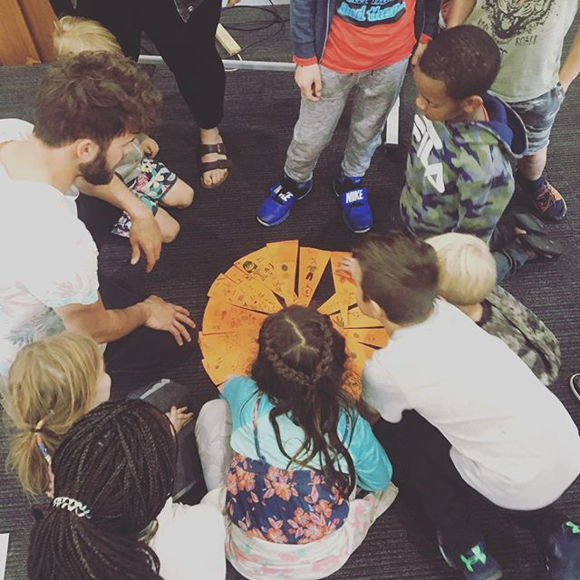 "As we finish up our week on ""Interfaith Peacemaking"" our students launched into running a Peacemakers Club for kids at a local church in Wollongong. Together they taught the kids about our ""upstairs"" and ""downstairs"" brains and how we can use deep breathing, talking and other strategies to create peace in our world. ✌🏽"