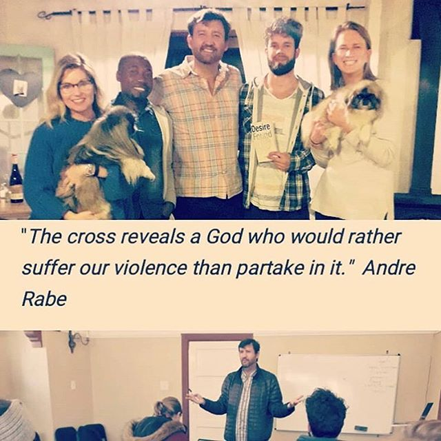 Repost from @tonyastanfield ... Why train missionaries in mimetic theory & scapegoating? We're opening our eyes to the cycle of violence that has trapped human civilization within it, how we've remade God in our violent image and how Jesus breaks this cycle by forgiving his murderers (us), ending the myth of redemptive violence, and unveils the true nature of a God who really is love! #ReallyGoodNews #Love_thy_neighbour(hood) #AndreRabe #Alwaysloved.net