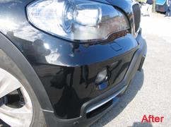bmw x5 dented bumper