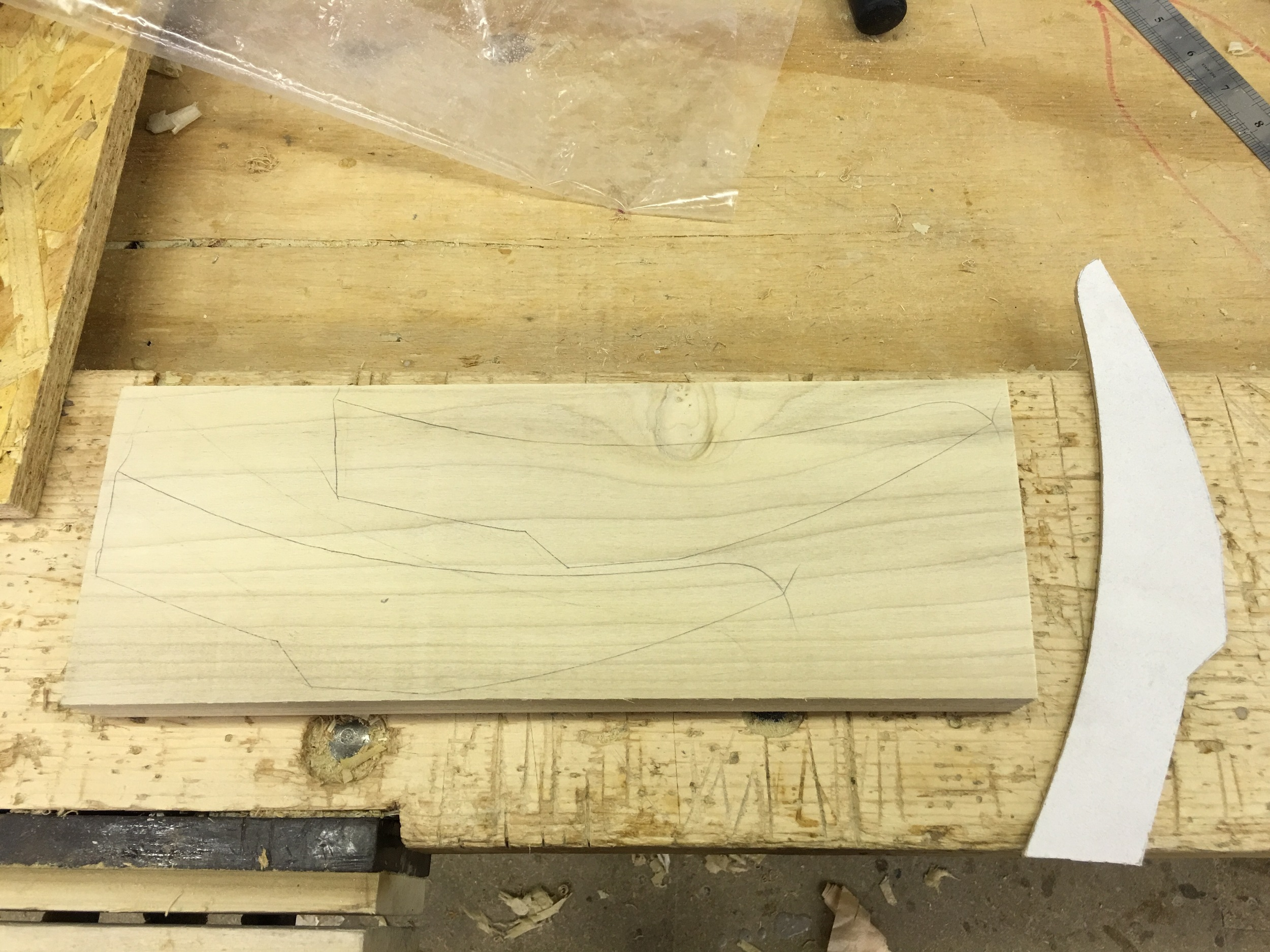 My template and template nesting in a block of wood
