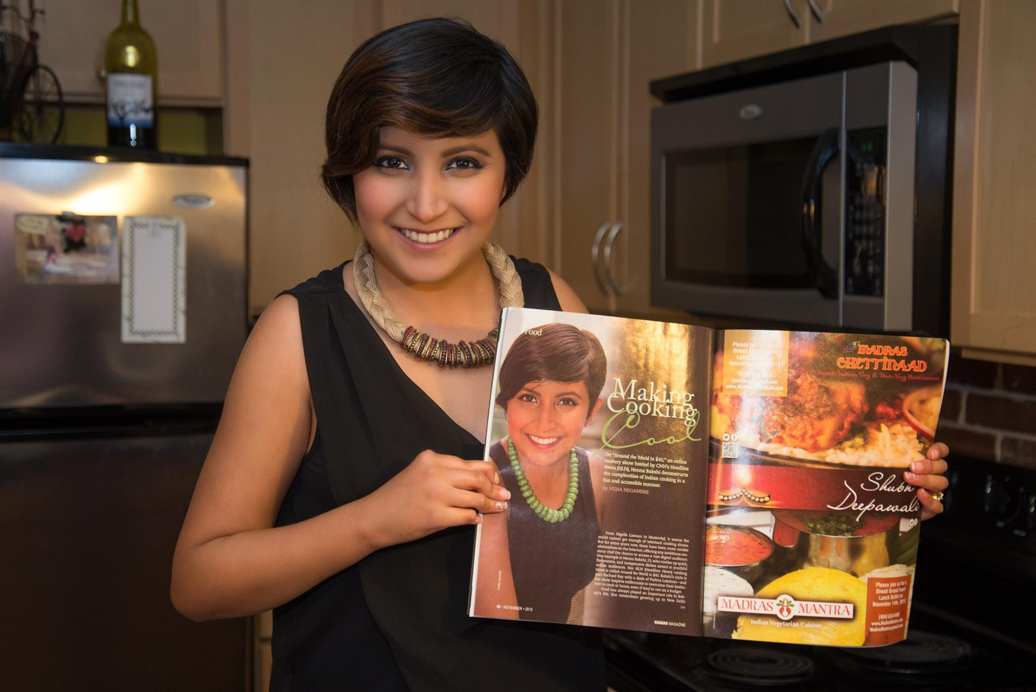 "Atlanta's Khabar Magazine feature on my cooking series, ""Around the World in $40"" on HLN."