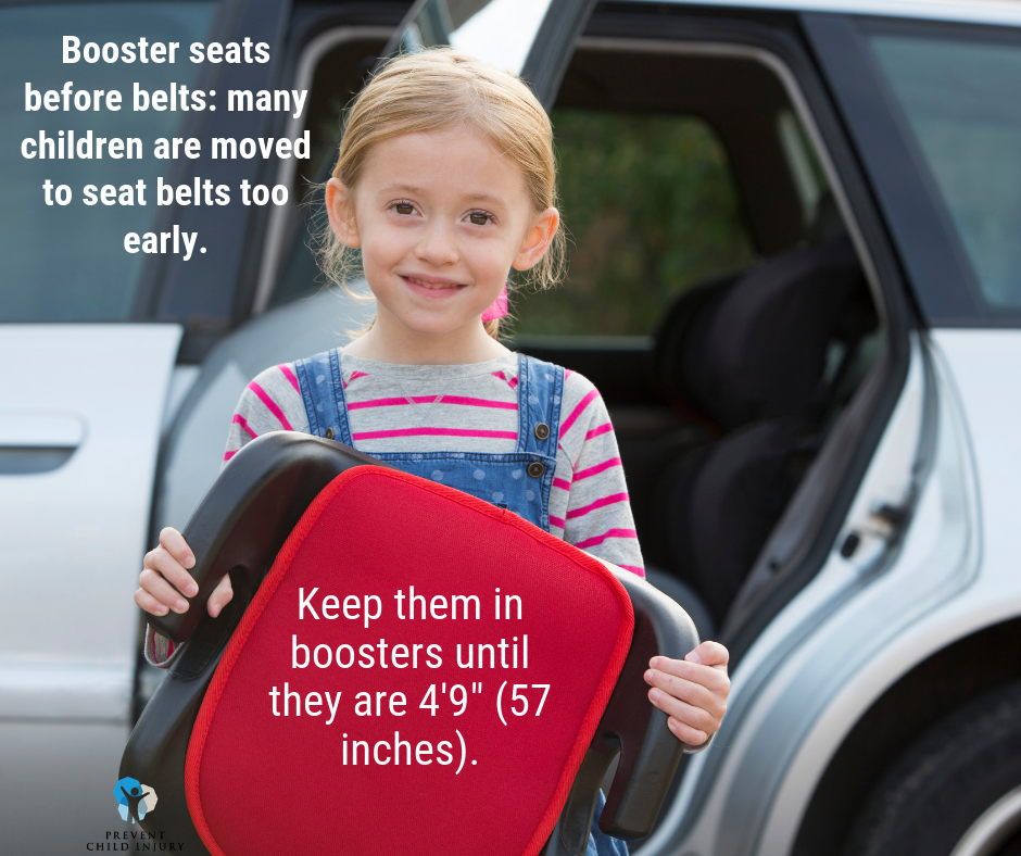 Boosters before belts--girl holding booster seat (Facebook).png