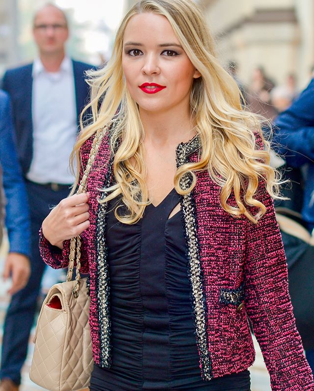 """Over the years I have learned that what is important in a dress is the woman who's wearing it."" —Yves Saint Laurent — Model: @victoryalferova  Jacket: @thekooplesofficial  Dress: @bcbgmaxazria  Shoes: Lui E Lei Handbag: @chanelofficial  Lipstick: @ysl  Makeup: @dolcegabbana  #fatefotos #foralltoenjoy #brandingsession #dcphotogprapher #dmvphotographer #milan #milanphotographer #internationalphotographer #entrepreneur #photograpHer #portraitphotographer #brandingphotographer #beauty #fashion #makeup #blogger #beautyblogger  #thekooples #bcbg #luielei #chanel #ysl #dolceandgabbana"