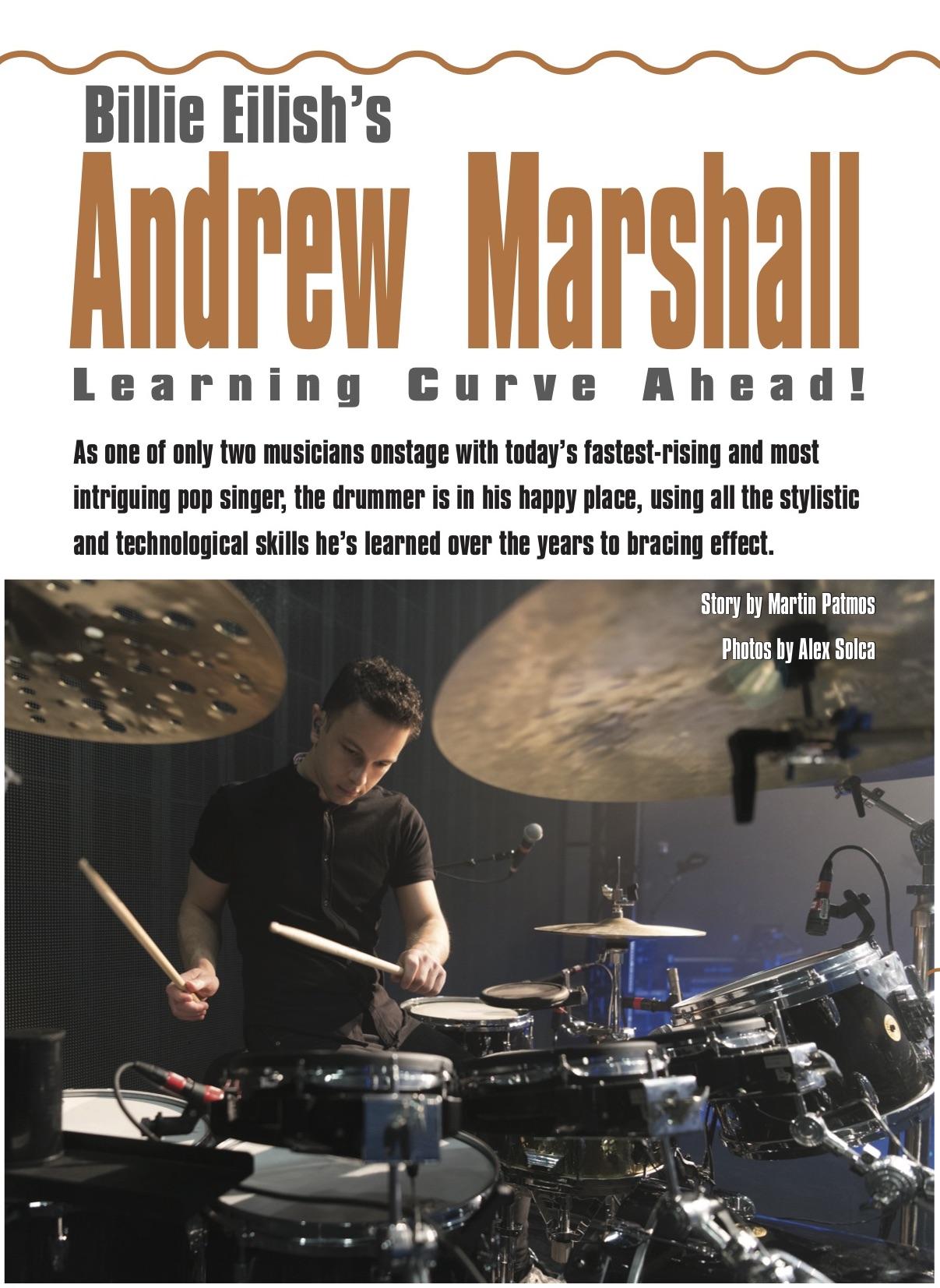 Modern Drummer feature, September 2019
