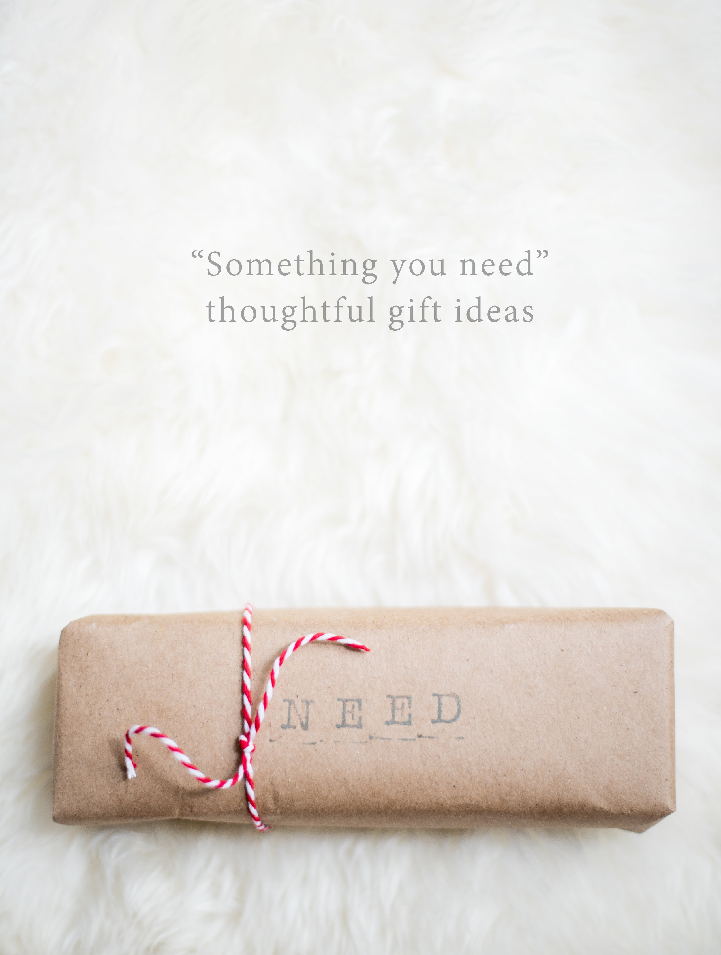 Thoughtful gift ideas: something you need (part 3 of 4).  Lovely Matters Blog by Heather Walker
