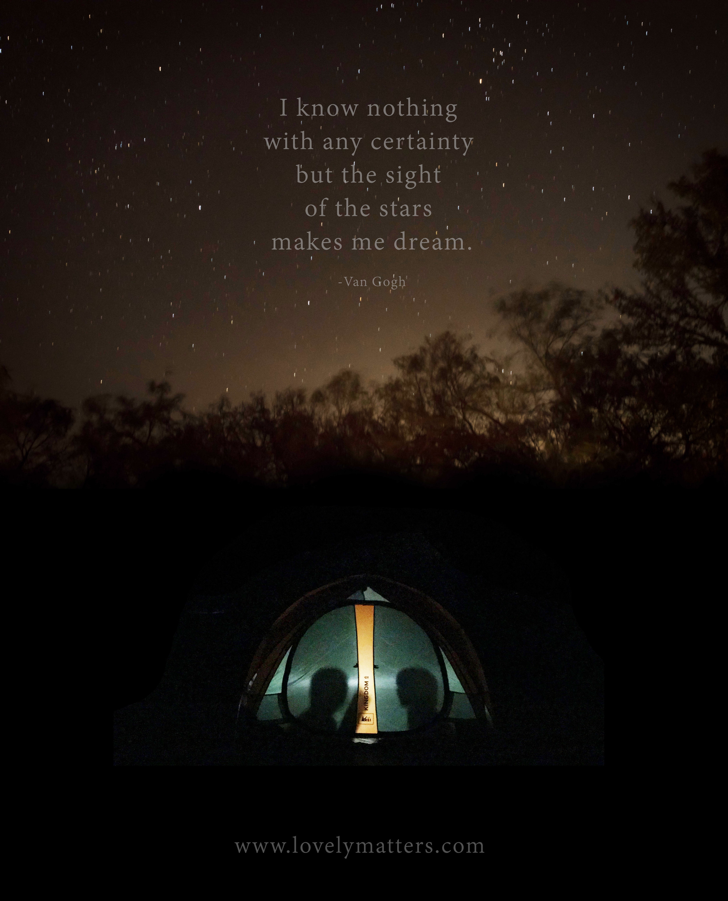 why we camp.  Lovely Matters blog by Heather Walker