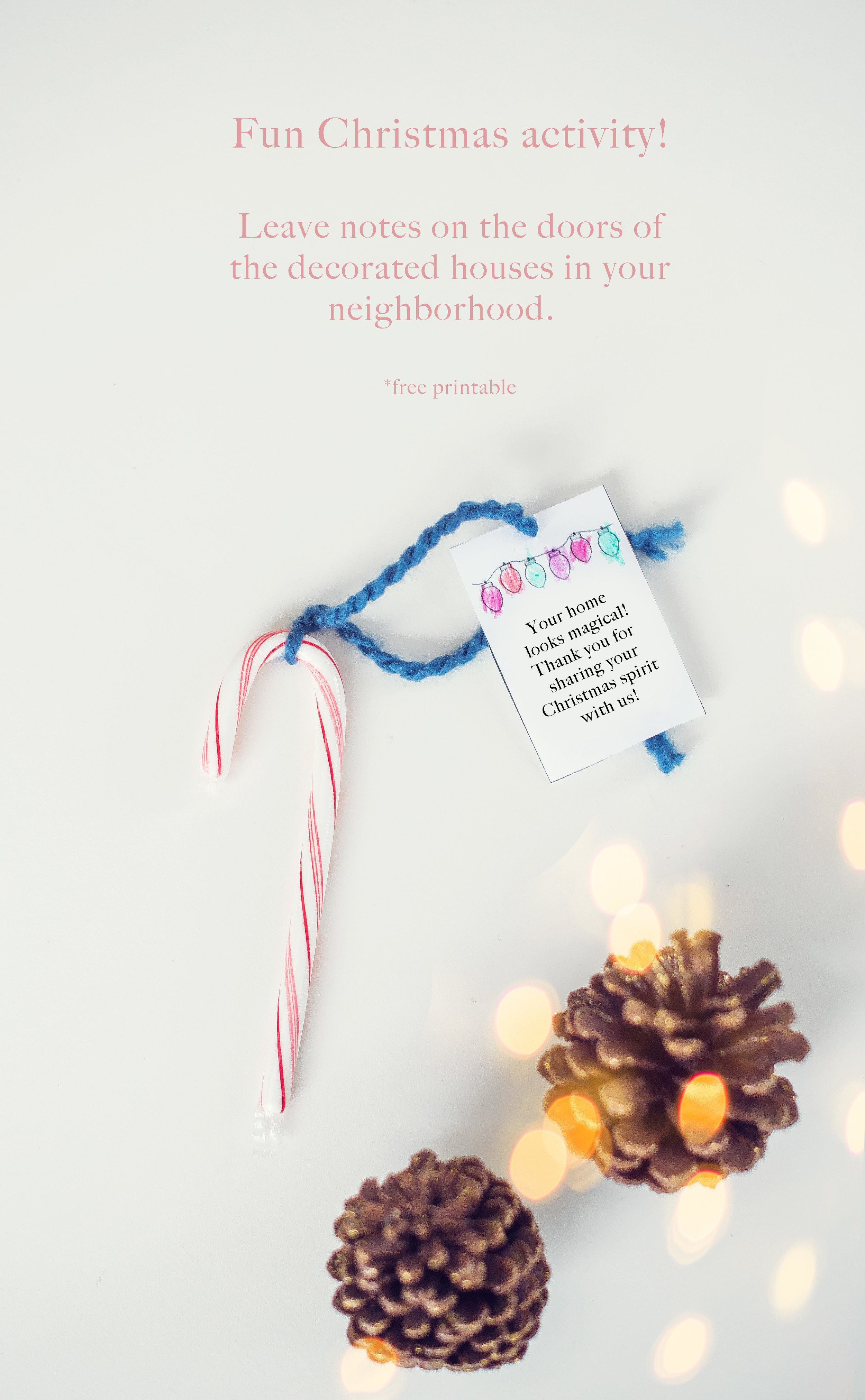Christmas activity looking at lights.  free printable.  Lovely Matters by Heather Walker