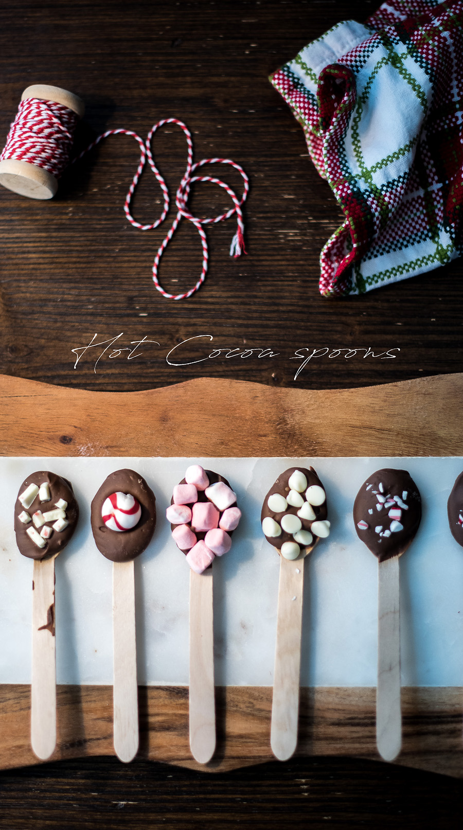 DIY Hot Cocoa spoons. Class Christmas gift idea.  Lovely Matters by Heather Walker