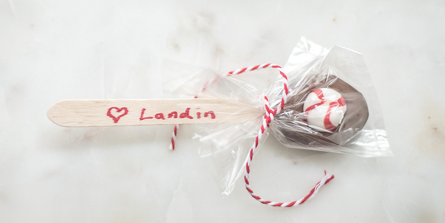 DIY Hot Cocoa Spoons.  Great idea for class gifts.  Lovely Matters by Heather Walker